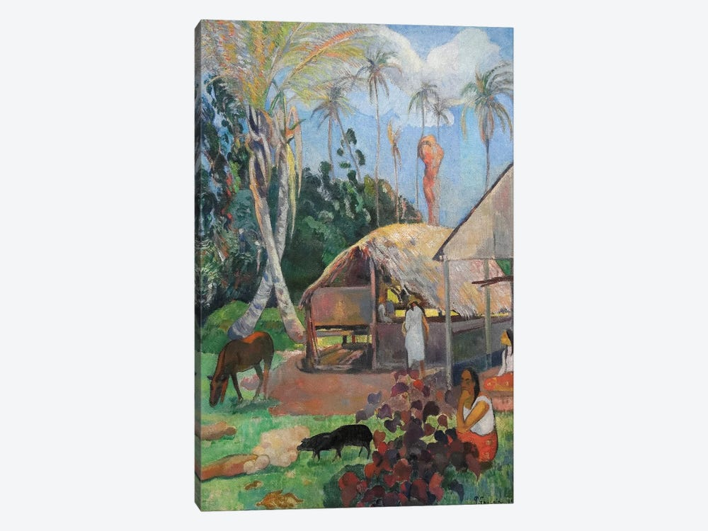 The Black Pigs by Paul Gauguin 1-piece Canvas Art