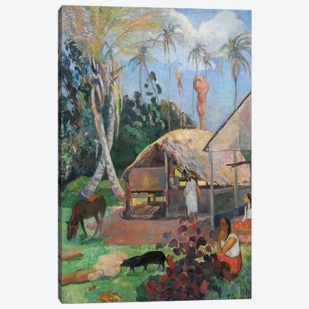 The Black Pigs Canvas Print #PGG5} by Paul Gauguin Art Print