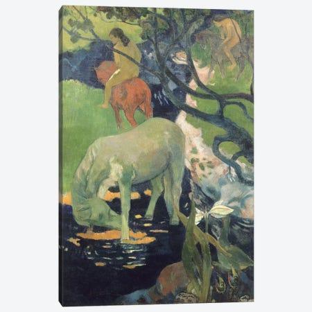The White Horse Canvas Print #PGG6} by Paul Gauguin Art Print