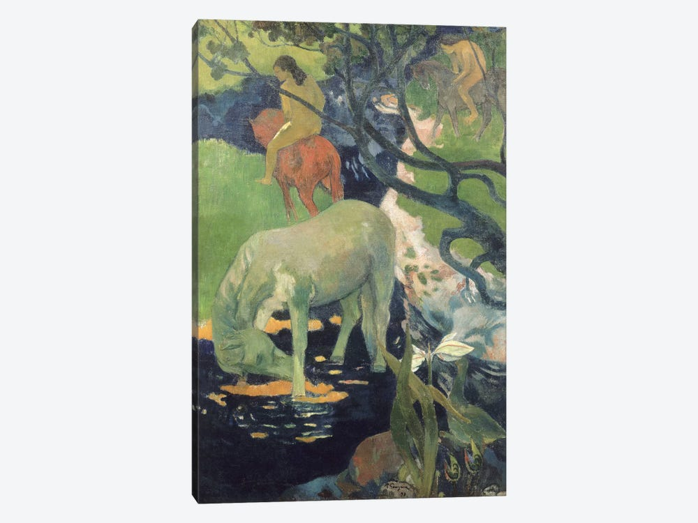 The White Horse by Paul Gauguin 1-piece Art Print