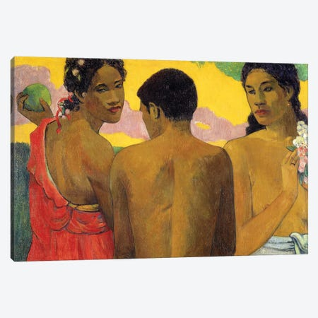 Three Tahitians Canvas Print #PGG7} by Paul Gauguin Art Print