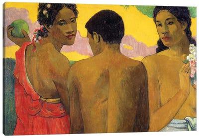 Three Tahitians Canvas Print #PGG7