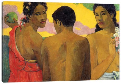 Three Tahitians Canvas Art Print