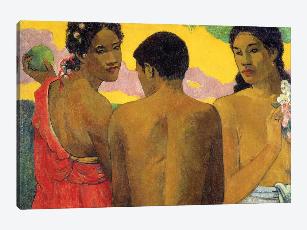 Three Tahitians by Paul Gauguin 1-piece Canvas Artwork