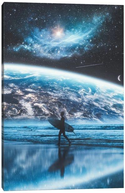 Surfing The World Canvas Art Print