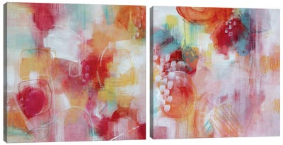 Its A Girl Diptych Canvas Art Print