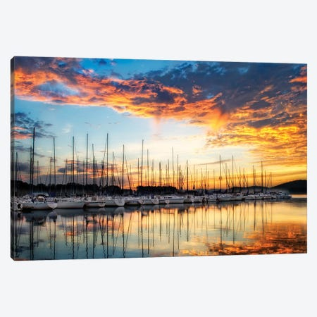 Lake Canvas Print #PHB48} by PH Burchett Canvas Wall Art