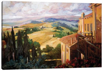 View to the Valley Canvas Art Print