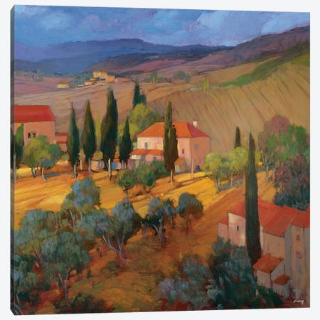 Coral Sunset Tuscany Canvas Print #PHC2} by Philip Craig Canvas Art Print