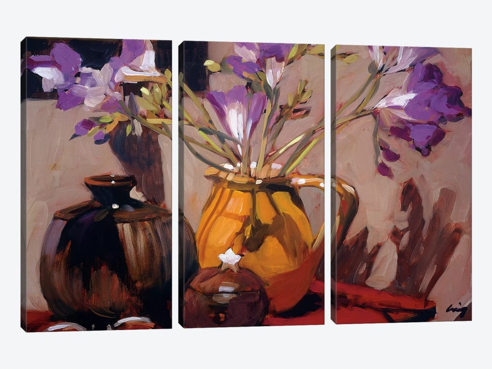 Freesia Floral 3-piece Canvas Art