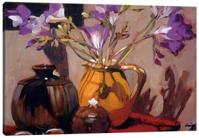 Freesia Floral Canvas Art Print