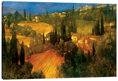 Hillside - Tuscany Canvas Art Print