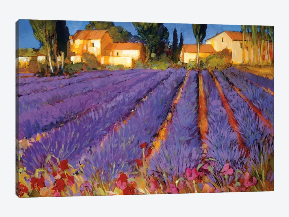 Late Afternoon, Lavender Fields by Philip Craig 1-piece Canvas Print