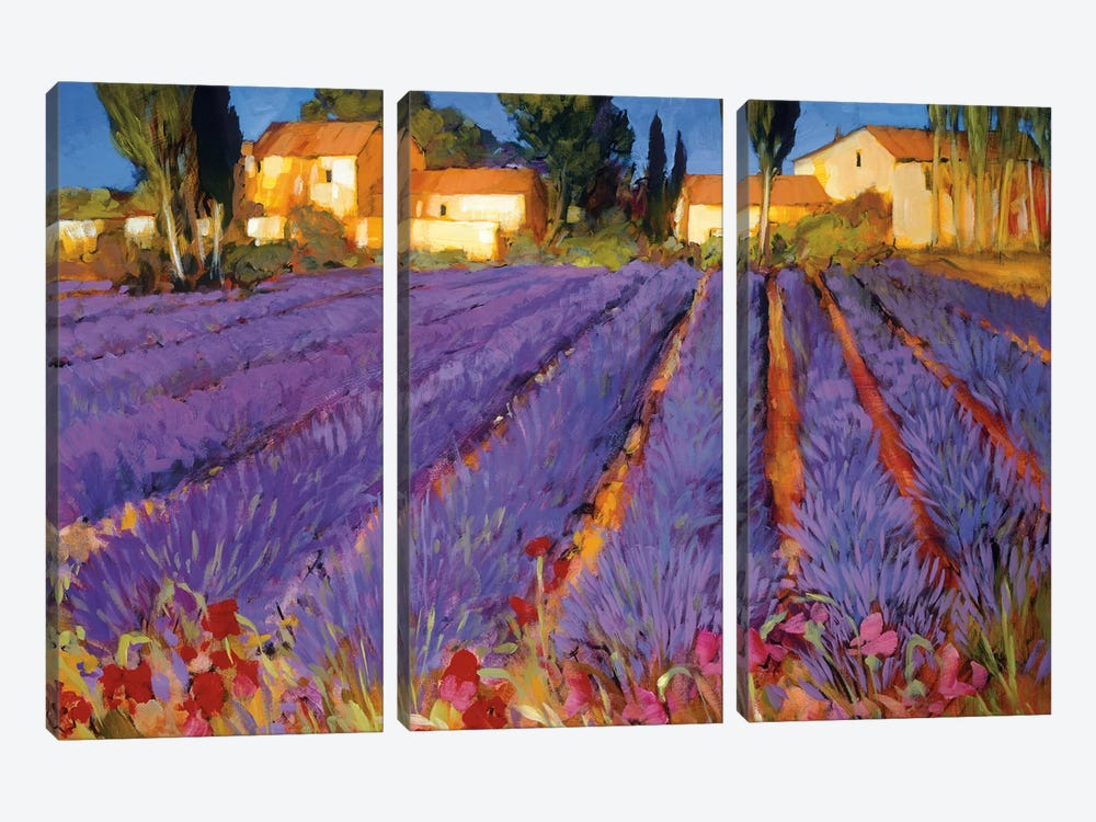 Late Afternoon, Lavender Fields by Philip Craig 3-piece Canvas Print