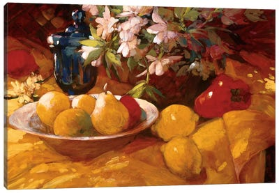 Still Life And Pears Canvas Art Print