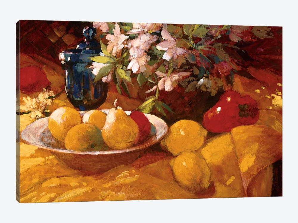 Still Life And Pears by Philip Craig 1-piece Canvas Art