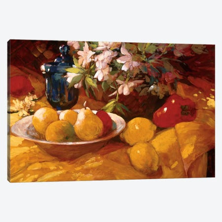 Still Life And Pears Canvas Print #PHC7} by Philip Craig Canvas Artwork