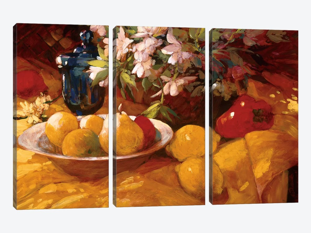 Still Life And Pears by Philip Craig 3-piece Canvas Artwork