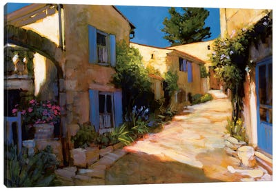 Village In Provence Canvas Art Print