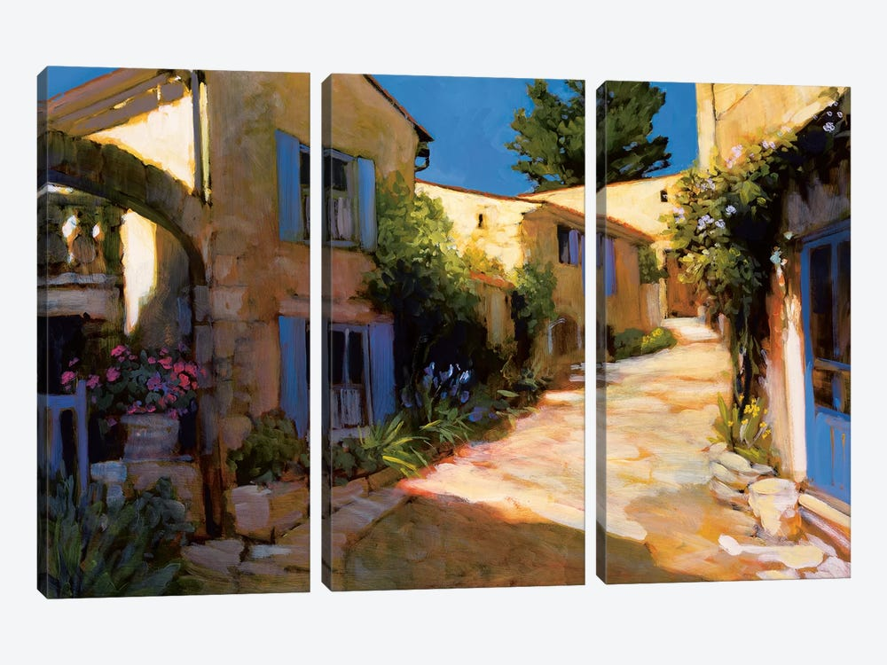 Village In Provence by Philip Craig 3-piece Canvas Wall Art
