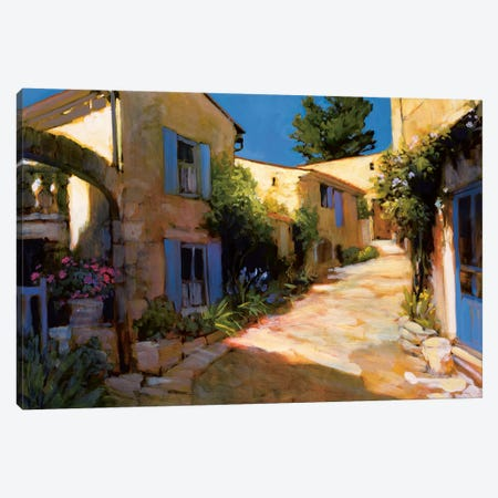 Village In Provence Canvas Print #PHC9} by Philip Craig Canvas Print