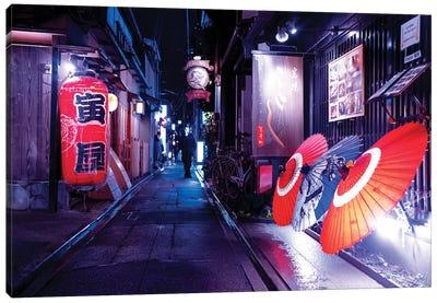 Japanese Umbrellas Canvas Art Print