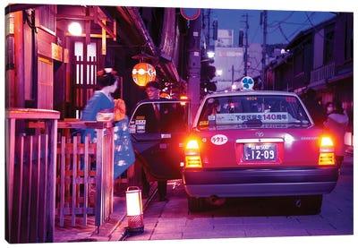 Geisha Taxi Canvas Art Print