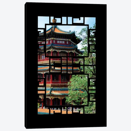 China - Window View I Canvas Print #PHD108} by Philippe Hugonnard Art Print