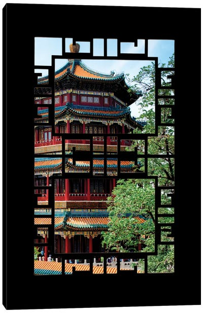 China - Window View I Canvas Print #PHD108