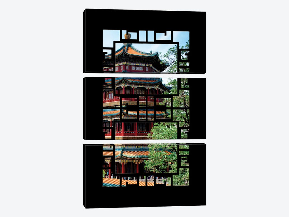 China - Window View I by Philippe Hugonnard 3-piece Canvas Print