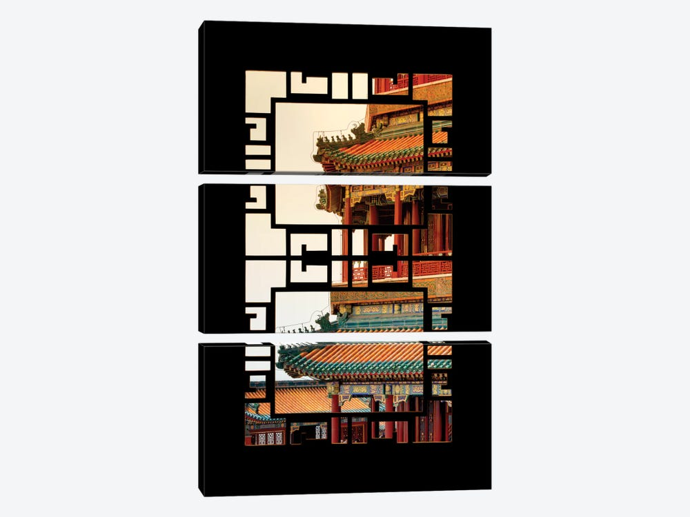 China - Window View II by Philippe Hugonnard 3-piece Canvas Wall Art