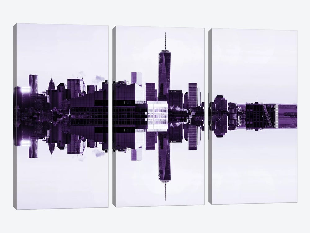 Double Sided - One World Trade Center by Philippe Hugonnard 3-piece Canvas Art Print
