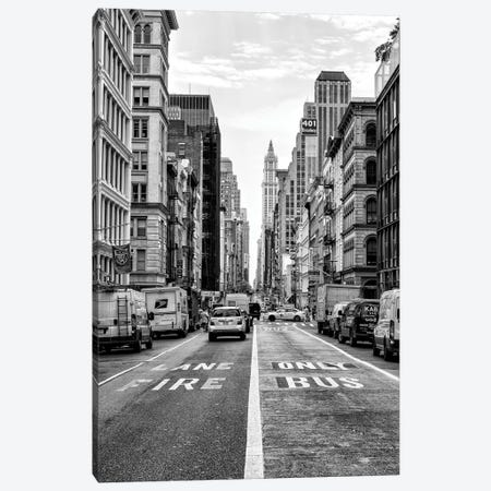Fire Lane & Bus Only Canvas Print #PHD1100} by Philippe Hugonnard Canvas Art