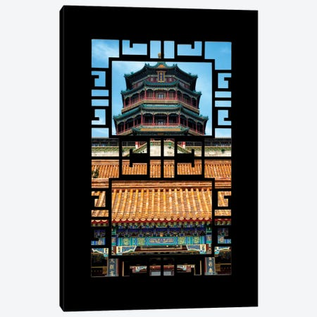 China - Window View III Canvas Print #PHD110} by Philippe Hugonnard Canvas Wall Art