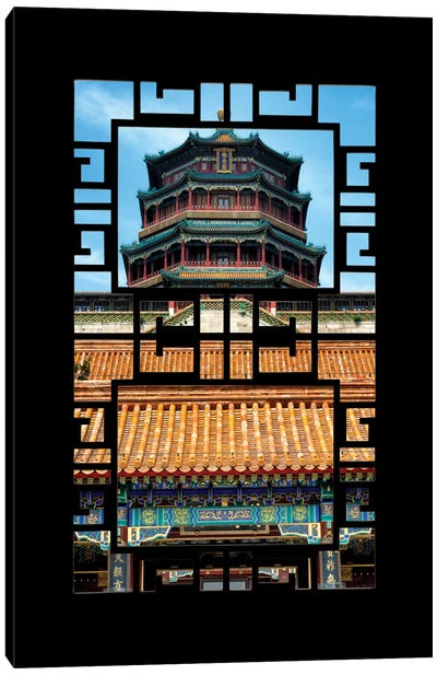 China - Window View III Canvas Art Print