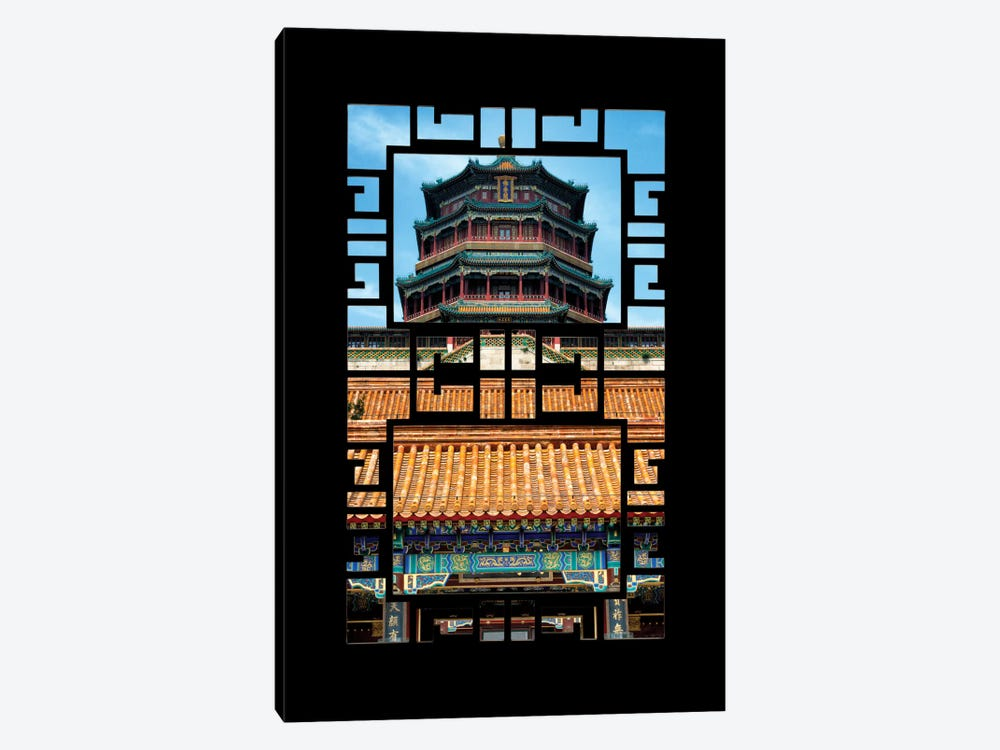 China - Window View III by Philippe Hugonnard 1-piece Canvas Wall Art
