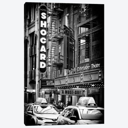 Times Square Theatre Canvas Print #PHD1124} by Philippe Hugonnard Art Print