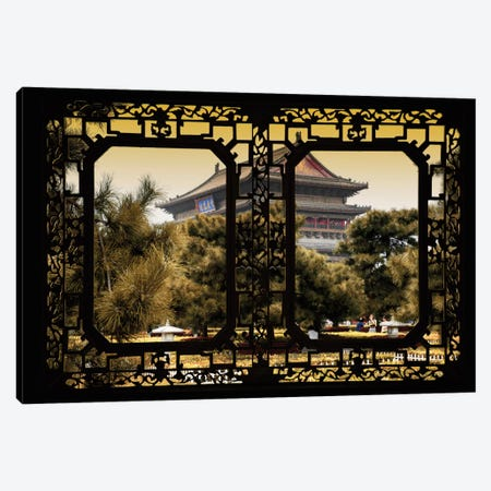 China - Window View V Canvas Print #PHD112} by Philippe Hugonnard Canvas Artwork