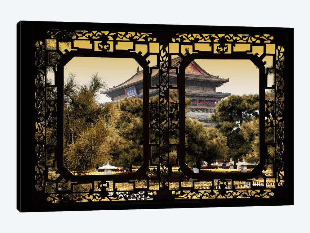 China - Window View V by Philippe Hugonnard 1-piece Canvas Artwork