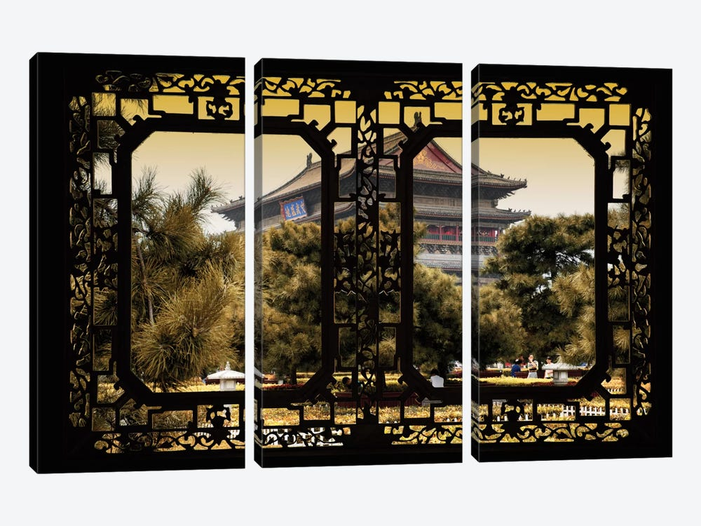 China - Window View V by Philippe Hugonnard 3-piece Canvas Artwork