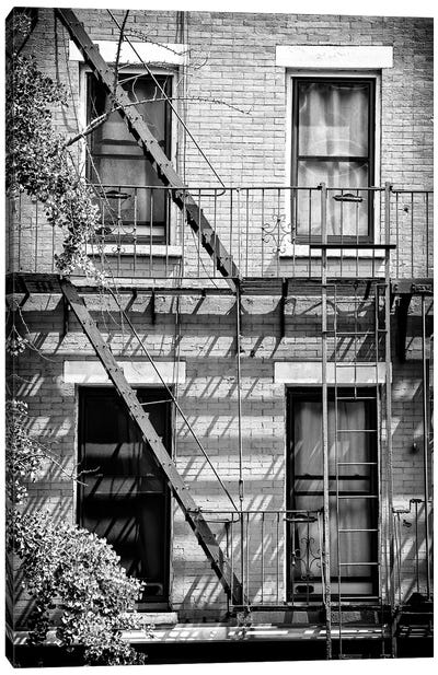 Fire Escape Stairs New York Canvas Art Print