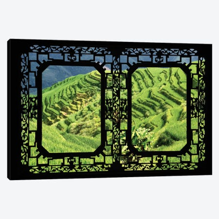 China - Window View VI Canvas Print #PHD113} by Philippe Hugonnard Canvas Wall Art