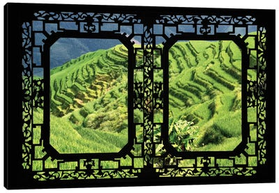 China - Window View VI Canvas Art Print