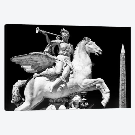 Equestrian Statue with Luxor Obelisk Canvas Print #PHD115} by Philippe Hugonnard Canvas Print