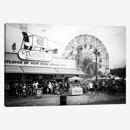 Boardwalk Coney Island Canvas Print #PHD1163} by Philippe Hugonnard Canvas Wall Art