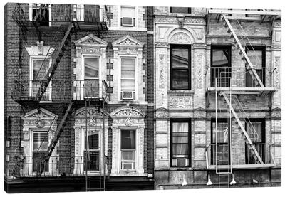 Two Fire Escape Stairs Canvas Art Print