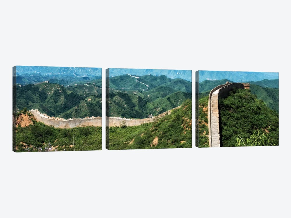 Great Wall of China I by Philippe Hugonnard 3-piece Canvas Wall Art