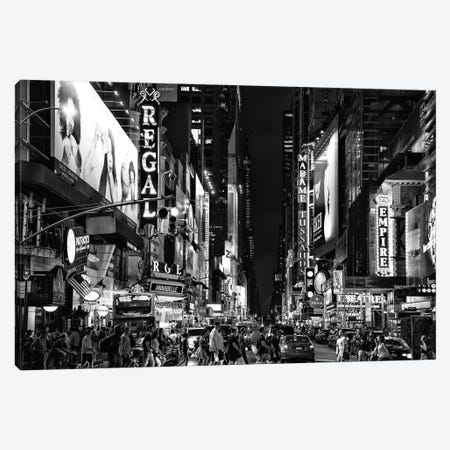 Times Square By Night Canvas Print #PHD1185} by Philippe Hugonnard Art Print