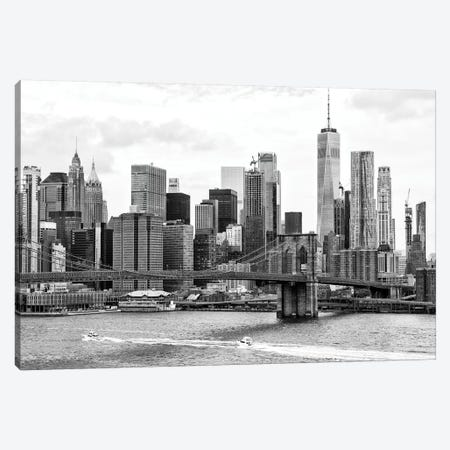 Brooklyn Bridge East River Canvas Print #PHD1214} by Philippe Hugonnard Canvas Art Print