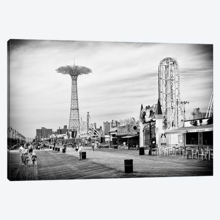 The Coney Island Boardwalk Canvas Print #PHD1223} by Philippe Hugonnard Canvas Print